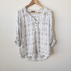 Stitch Fix Market& Spruce walfrid Henley blouse  s